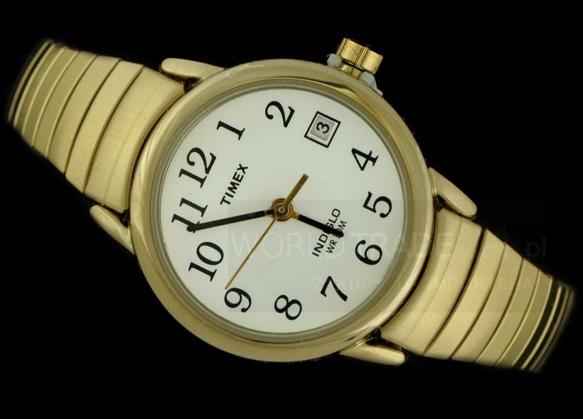 cca0107d81200 ZEGAREK DAMSKI TIMEX T2H351 CLASSIC GOLD DATA!