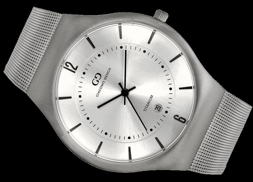5f93b9dcae7d1 Zegarek męski Giacomo Design GD12001 tytanowy - Zegarki