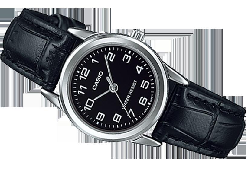 9e7182d4356ec Klasyczny zegarek damski Casio LTP-V001L-1B skóra - Zegarki
