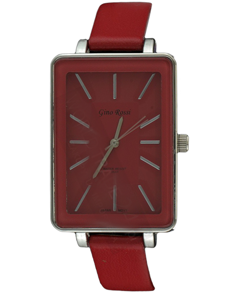 LADIES WATCH GINO ROSSI 6731A-5A DARK RED FASHION