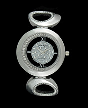 LADIES WATCH GINO ROSSI 3042B-1C1 BKSL ASYMETRIC