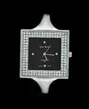LADIES WATCH GINO ROSSI 6392B-1C1 BKSL CRYSTAL