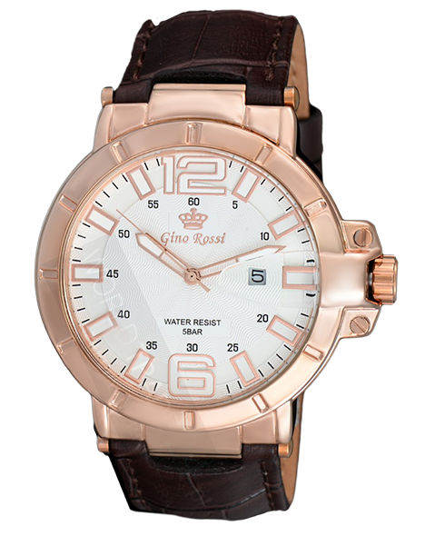 MEN'S WATCH GINO ROSSI 9044A-3B1 WHBR DATA 50M