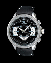 MEN'S WATCH GINO ROSSI 1565A-1A1 BKSL TACHYMETR