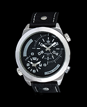MEN'S WATCH GINO ROSSI 1619A-1A1 BKSL DUALTIME