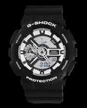 Men's watch Casio GA-110BW-1A G-Shock 200M