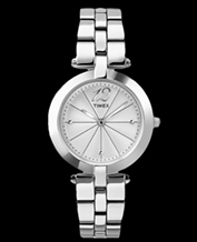 LADIES WATCH TIMEX T2P549 bransoleta silver!