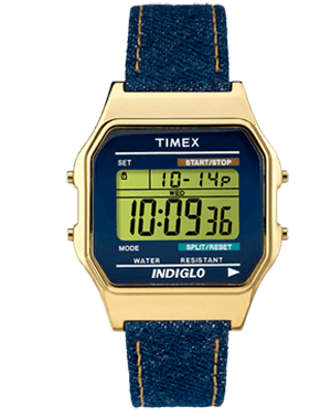 Watch unisex Timex TW2P77000 Indiglo Blue Denim