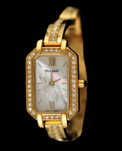 Women watch Pulsar PEG886X1 Crystals Gold