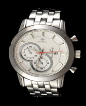 Men watch Gino Rossi 09774B 9774 silver- white