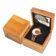 Wood universal box case on watch