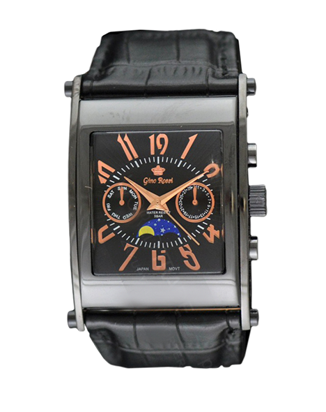 Men watch Gino Rossi 6875A-1A3 BKMiedz