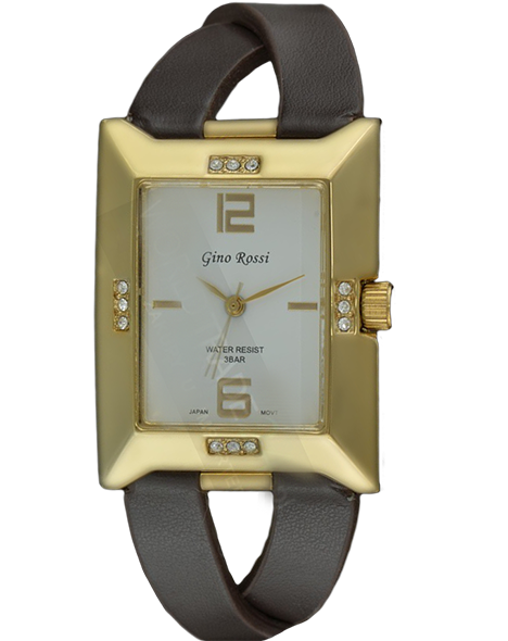LADIES WATCH GINO ROSSI 6724A-3B1 BRGD FASHION