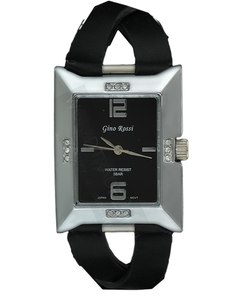 LADIES WATCH GINO ROSSI 6724A-1A1 BKSL FASHION