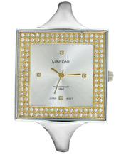 LADIES WATCH GINO ROSSI 6392B-3C3 SLGD CRYSTAL