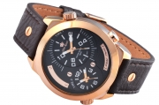 MEN'S WATCH GINO ROSSI 1619A-1B1 BKBR DUALTIME