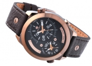 MEN'S WATCH GINO ROSSI 1619A-2B1 BRBR DUALTIME
