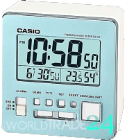Digital alarm clock Casio DQ-981-2D thermometer blue